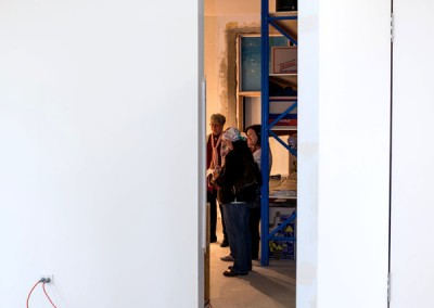 The new storeroom door  opens up, Museum Open Day 2, August 2014. Photo: K Grant.