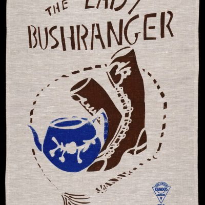 Lady Bushranger tea-towel