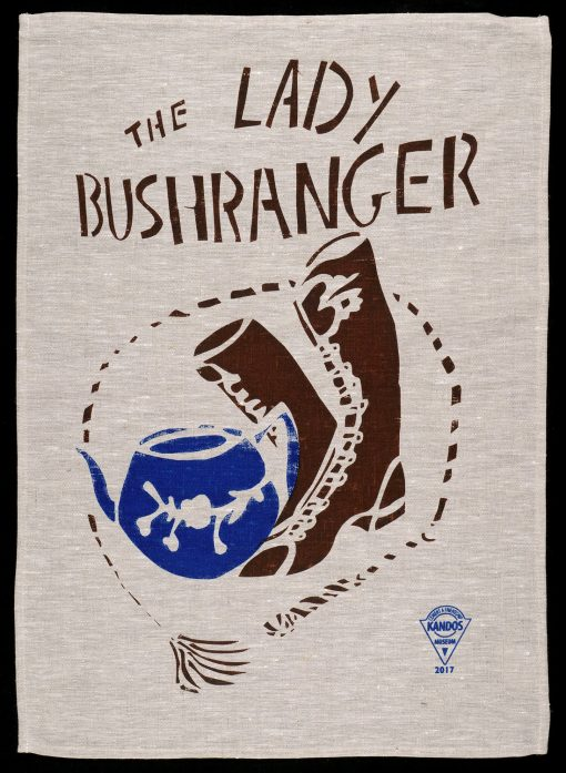 Lady Bushranger tea-towel